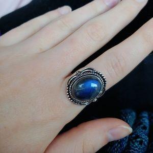 Blue labradorite ring